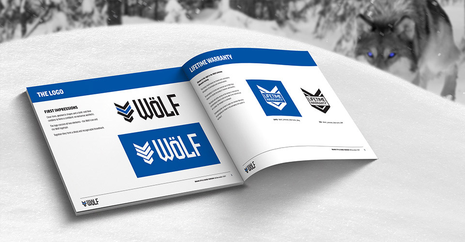 Wolf handtools brand guidelines book