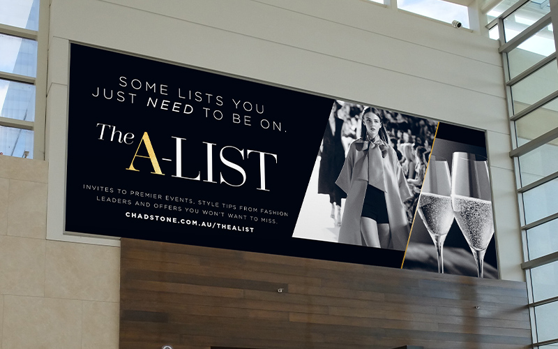 Chadstone shopping centre high level poster