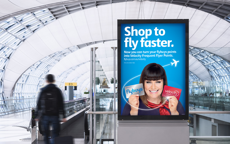 Dawn French promoting flybuys and Velocity rewards cards